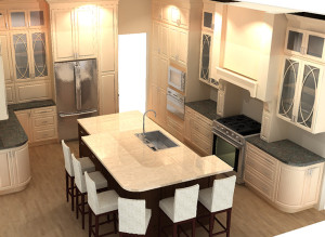 Rendering of kitchen remodel