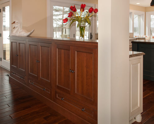 Entertainment center design by Kitchens by Design