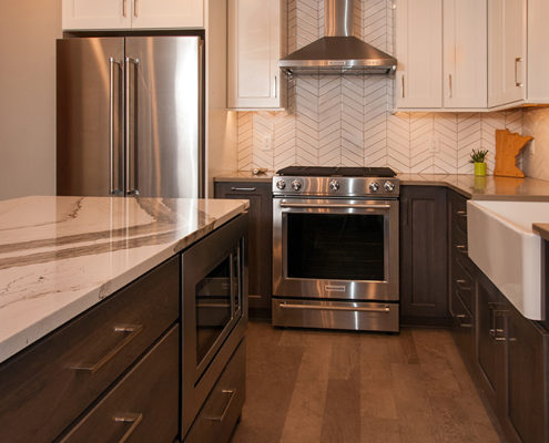 Stainless steel appliances by Kitchens by Design