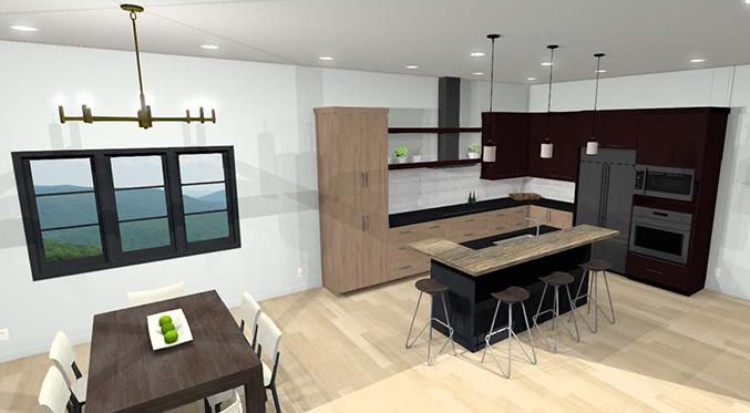Kitchen remodel rendering by Kitchens by Design